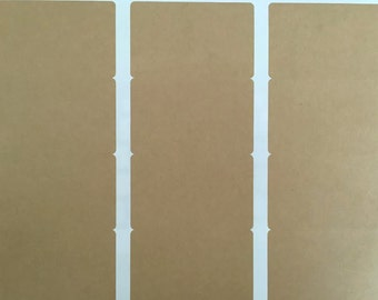 2X3 Blanks Kraft or White  Matte or White Glossy Rectangle Labels - 12 Labels - Eco blank stickers - Rectangular kraft brown stickers