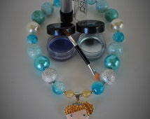 Bubblegum Necklace - Disney pendent - Elsa Necklace - Play Makeup - Pretend Eyeshadow - Play Lipstick- Frozen - Elsa Gift- Disney Necklace