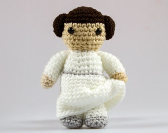 Princess Leia Crochet Star Wars Pattern Amigurumi Crochet Pattern Star Wars Toys Crochet Doll Pattern Amigurumi Doll Pattern P032
