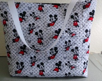 Mickey Mouse, Disney Reusable Farmers Market / Grocery / Shopping Bag / Tote