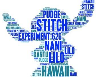Stitch Word Cloud Print