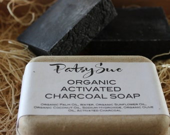 Activated Charcoal Skincare Soap | Natural Cleasner for Face | Anti Aging Soap | Organic Activated Charcoal | Organic Skincare | Acne Soap