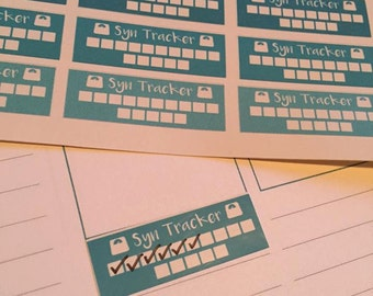 32 Slimming world 15 syn tracker Planner Stickers great for most planners