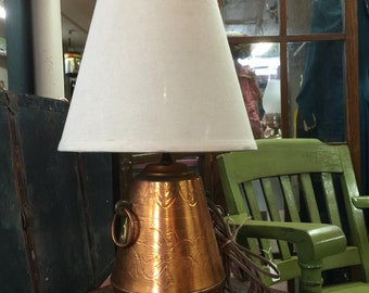 Vintage copper lamp