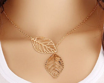 Fashion Jewelry Leaf Chain Necklace