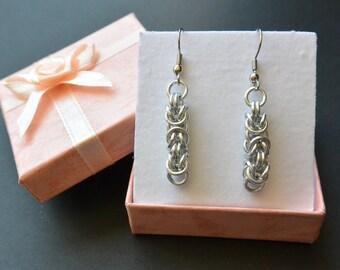 Byzantine Chainmail Earrings