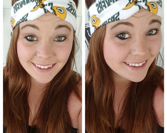 White Green Bay Packers Headband