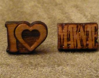 I Love Maknae KPOP Earrings