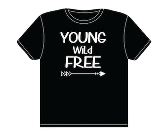 Young Wild Free with Arrow Toddler's Shirt