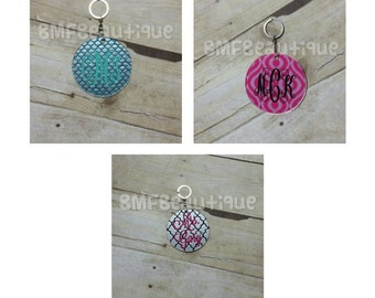 Personalized Circle Keychain, Personalized Round Keychain, Monogram Keychain, Initial Keychain, Gift for Her, Girl Present, Birthday Present