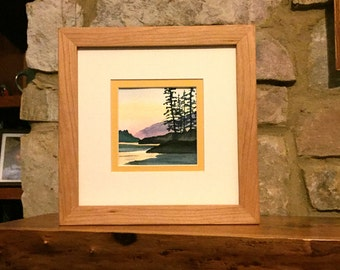 Framed Art , Original Watercolor