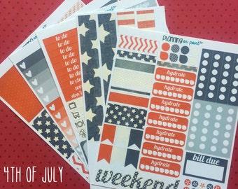 HUGE SALE! 4th of July Patriotic Planner Kit (for Vertical Erin Condren Life Planner)