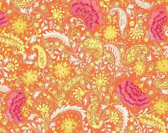 Dena Designs - The Painted Garden - Blossoms Yellow - Price Per Yard