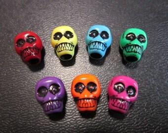 1PCS Colorful Acrylic skull Dreadlock beads dread Hair Braid Jewelry Accessories 4.7mm hole