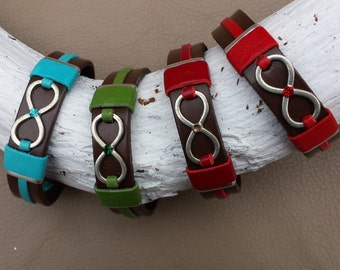 Infinity on Brown Leather Bracelet