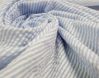 Crystal Blue Stripes 100% Cotton Robert Kaufman