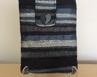 Embroidered Textile iPad and Kindle Sleeve.