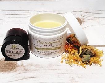 Handmade All Natural Antibiotic Cream Cuts and Scrapes Salve