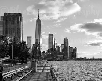 By The Pier, Freedom Tower, Riverside Art, Viewfinder Print, Photography, Home, Wall Decor, New York City Photography, Living Room,