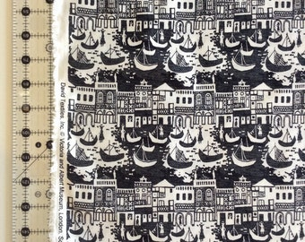 Venice in Black and White Fabric by the Yard-David Textiles