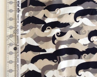 Mustachioed Man Fabric by the Yard-Micheal Miller patt#cx-6008