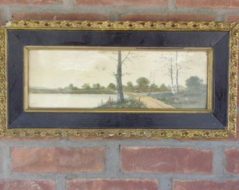 Landscape, Oil on Board, Framed and Signed