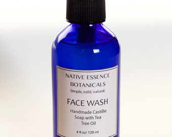 Face Wash - Tea Tree Facial Cleanser - All Natural Facial Wash - Acne Face Wash - Natural Skin Care - Bath And Beauty - Facial Care