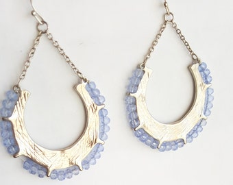 Horseshoe hoop chandelier earring