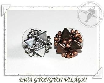 Zina  beaded earrings PDF pattern