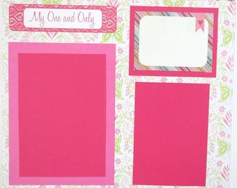 "My One and Only 12x12"" Premade Scrapbook Page"