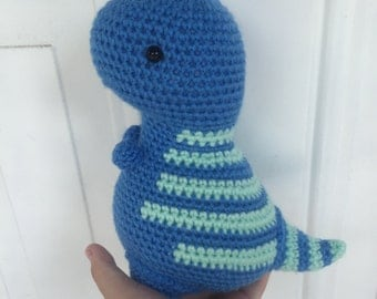 MADE TO ORDER handmade amigurumi crochet art toy stuffed animal toy free-standing dinosaur plushie