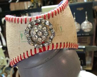 Vintage Baseball Bracelet