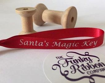 Santa's magic key ribbons pack of 10