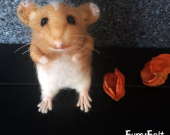Lilly the Needle Felted Hamster