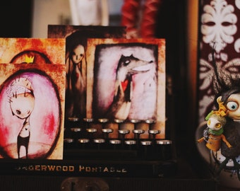 Nesmely/ print, ACEO cards