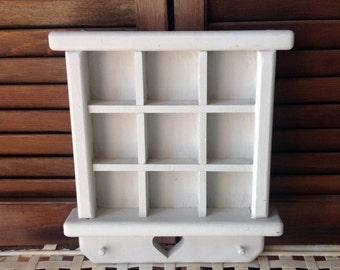 Wooden Miniatures Display Shelf Decorative Accent Home Decor