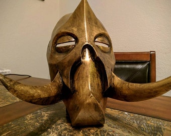 Skyrim Mask, Konahrik, Dragon Priest, Cosplay, 3D printed and hand painted