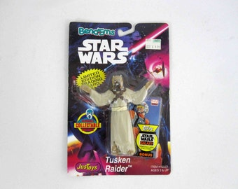 Vintage Star Wars Bend-Ems Tusken Raider Action Figure. Mint on Card. Circa 1994.