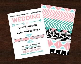 Aztec Wedding Invite