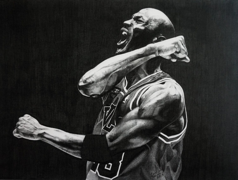 Michael Jordan Artwork: Michael Jordan Art Air Jordan Art Vintage Basketball Art