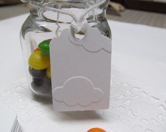 Embossed Cloud Gift Tags - White Tags - Favor Tag - Price Tag - Wedding Favor - Bridal Gifts - Shower Gifts