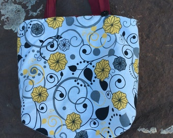 Crazy Flower Lunch Tote
