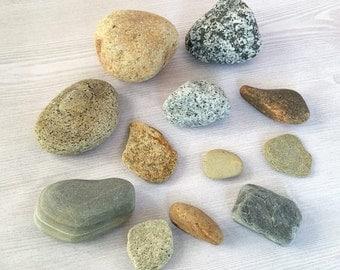 Colored Beach Rocks Colored Stones Round Rocks Beach Stones Craft Stones Aquarium Terrarium Rock Garden Stones Craft Rocks - 12 Smooth Rocks