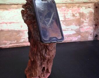 Driftwood smartphone holder