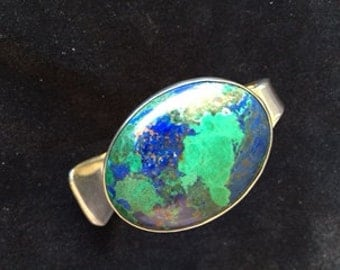 Azurite and Sterling Silver Bracelet