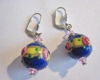 Wedding Cake Bead Pierced Earrings