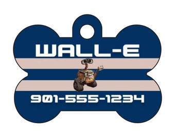 Disney Wall-E Personalized Dog Tag Pet Id Tag w/ Your Pet's Name and Number