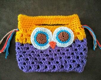Owl crocheted handbag