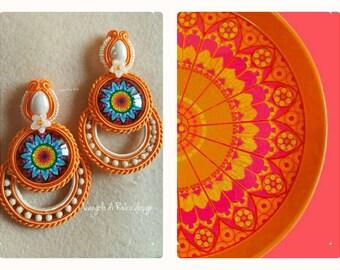 Earrings Orange Ideas