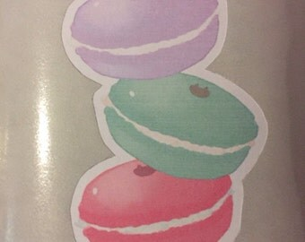 Macaroon stack pastels sticker - ready to ship!